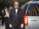 Author Ron Kessler says that the Secert Service allowed actor Bradley Cooper to be dropped off at the doors of the 2013 House Correspondents Dinner in the Ford Expedition in this photo. Every one else attending the dinner - except for the president and his motorcade - had to be dropped off a block away from the dinner site for security reasons