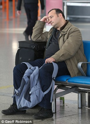Passengers delayed at Stansted Airport in Essex