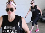 'B**** please!' Khloe Kardashian wears rude top to the gym... as it's claimed she split from French Montana because she 'isn't over Lamar'