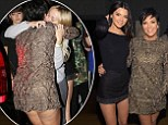 Keeping Up With Kendall! Kris Jenner flashes derriere in thigh-skimming embroidered dress as she parties in New York with 18-year-old model daughter