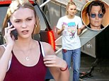 Just like dad! Lily-Rose takes after famous papa Johnny Depp as she looks pensive on LA set of new film Yoga Hosers