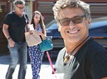 Going strong: Steven Bauer and his teenage girlfriend Lyda Loudan stepped out for lunch on Wednesday in Los Angeles