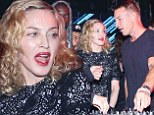 Madonna busts some moves at the turntable as she joins DJ Diplo at New York Fashion Week after-party