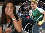 Pippa Middleton learns wheelchair rugby isn't for the faint-hearted as she watches Invictus Games 'murderball' match (featuring Prince Harry)