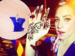 Middle-Eastern adventure: Lady Gaga traveled to Dubai where she performed on Wednesday and smoked hookah in the desert