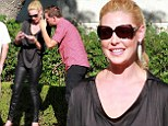Katherine Heigl looks mortified and swiftly turns an unfortunate shade of pink after causing minor fender bender in LA