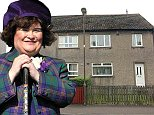 SUSAN Boyle has splashed out Pounds 110,000 to seal a deal to buy the house next door to hers.\nThe singing sensation paid around Pounds 30,000 over the market value to secure the house adjoining her own ex-council home.\nEarlier this year it was revealed that Susan was renting the house from landlords Romano and Claudia Pacitti while she agreed a price.\nProperty records show that last month the 52-year-old paid Pounds 110,000 to buy the house from them.\nShe is now set to press ahead with plans to knock through the walls and convert the two properties into a six-bedroomed dream home. Pic shows the two houses, Boyles existing home is the house on the left with a brown wooden door, the house she has bought is the house on the right with the white pvc door.\nPIC SAM HARDIE.\nSEE PRESSTEAM COPY FOR DETAILS.