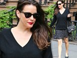 Sneaky sneaky? Liv Tyler concealed her stomach with a baggy black sweater as she left her apartment in New York City on Friday