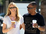 Eddie Murphy, 53, and his girlfriend Paige Butcher, 35, are two happy lovebirds as they put on another PDA on coffee run