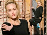 Can't wait to show off! Peta Murgatroyd strikes a pose in the DWTS car park when she should be in rehearsals