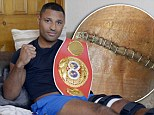 Boxer Kell Brooks feature\n Picture Andy Hooper Daily Mail/ Solo Syndication\npic shows