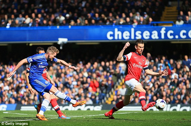 Quick double: Andre Schurrle scored just two minutes after Eto'o