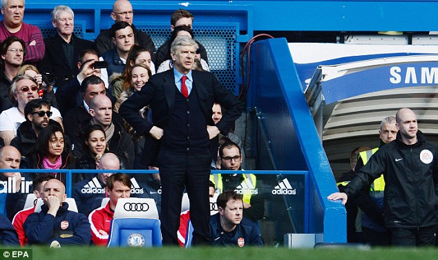 No show: Arsene Wenger did not do a post-match press conference as the team bus had to leave