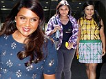 The many faces of Mindy! Kaling dons THREE different outfits as squeezes in appearances in New York City