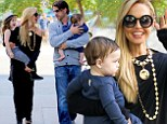Friday with the family! Rachel Zoe wraps up day after fashion week with husband Rodger Berman and sons Kaius and Skyler