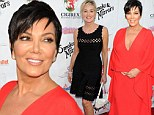 Fierce after 55! Sharon Stone and Kris Jenner chat on the red carpet while dressed in diva-licious gowns for Beverly Hills bash