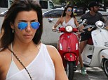 Eva Longoria took to the streets of Miami on Saturday, showing off her bronzed and toned body, while frolicking around with her boyfriend of one year Jose Antonio Baston