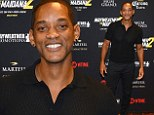 Will Smith, 45, attended the VIP pre-fight party ahead of Mayweather's match against Maidana at the MGM Hotel in Las Vegas on Saturday night