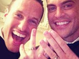 'It was love at first sight and this is just the culmination of that': Glee star Cheyenne Jackson weds Jason Landau in a star-studded affair