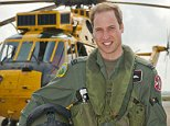 FILE - In this  Friday June 1, 2012  file image released by Britain's Ministry of Defence  Britain's Prince William poses in front of a Sea King helicopter  at RAF Valley in Anglesey Wales.  Prince William has finished his tour of duty as a Royal Air Force search-and-rescue helicopter pilot and has left operational service with the British military to focus on royal duties and charity work, royal officials said Thursday, Sept 12, 2013.  Williamís Kensington Palace office said that the second in line to the British throne completed his final shift earlier this week. (AP Photo/ SAC Faye Storer, MOD, File)