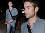 Chace Crawford reveals arm injury while wearing sling to West Hollywood hotspot Craig's