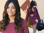 Bethany Mota dons maroon playsuit as she arrives for Dancing With The Stars rehearsal