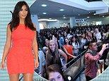 Kim Kardashian West at Westfield Parramatta. Picture: Attila Szilvasi.