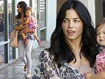 """Picture Shows: Jenna Dewan, Everly Tatum  September 12, 2014    'Witches Of East End' actress Jenna Dewan is spotted taking her baby girl Everly to a baby class in West Hollywood, California.     Jenna recently revealed that her daughter keeps her very busy saying, """"She's such a riot. She wears me out. I'm like, workout? What do you mean workout? I chase around my baby all day!""""     Exclusive All Rounder  UK RIGHTS ONLY   Pictures by : FameFlynet UK    2014  Tel : +44 (0)20 3551 5049  Email : info@fameflynet.uk.com"""