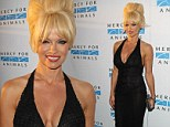 Is that Patsy Stone? Pamela Anderson wigs out in dodgy beehive at LA animal charity gala
