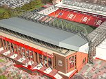 A computer generated image of redevelopment of Anfield stadium in Liverpool.     LFC_View04_FINAL.jpg