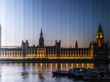 PIC FROM RICHARD SILVER / CATERS NEWS (PICTURED: HOUSES OF PARLIAMENT, LONDON, UK.) - A photographer has created beautiful pictures showing changing light of sunsets over iconic landmarks in one image. Richard Silver has snapped the Houses of Parliament, Rome?Äôs Coliseum and the Burj Khalifa in Dubai using his ?Äútimeslice?Ä method. The photographs show how the landscapes transform from daylight hours, to dusk and then night-time. Overall the artist from New York, USA has shot 38 buildings around the world from Beijing to Dubai and Milan. Richard said: ?ÄúI wanted to photograph iconic world buildings at sunset and capture the changing light from day to night in a single image. SEE CATERS COPY.