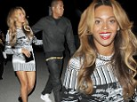 Celebrating! Beyonce dons skintight mini-dress as she enjoys date night with Jay Z in Paris after wrapping On The Run tour