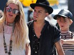 Ashlee Simpson, 29, was spotted arriving to a bookstore opening party hosted by her new mother-in-law in Santa Monica, California on Monday dressed in a beautiful white lace frock with her son Bronx Mowgli, five