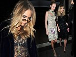 Cara Delevingne, Suki Waterhouse and Poppy Delevingne at LFW s/s 2015: Downing Street Reception. London. UK.\n\nPictured: Cara Delevingne, Poppy Delevingne, Suki Waterhouse\nRef: SPL843289  150914  \nPicture by: RV / Splash News\n\nSplash News and Pictures\nLos Angeles: 310-821-2666\nNew York: 212-619-2666\nLondon: 870-934-2666\nphotodesk@splashnews.com\n