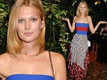 Model and girlfriend of Leo Dicaprio, 22-year-old Toni Garrn, was seen attending Stella McCartney's Green Carpet Collection show at The Royal British Institute in the capital on Sunday