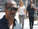 Caffeine fix: Eddie Murphy, 53, and his beautiful blonde lady love Paige Butcher, 35, hit up their favorite Coffee Bean & Tea Leaf in Los Angeles on Monday for some express espresso