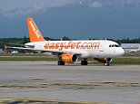 BB7P8M Easyjet Airbus A319-111 HB-JZG Airliner Taxiing at Geneva Airport Switzerland Geneve Suisse. Image shot 2009. Exact date unknown.