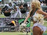 7/9/2014  NFL NEW YORK MET LIFE STADIUM NEW YORK JETS V OAKLAND RAIDERS JETS CHEERLEADERS PICTURE DAVE SHOPLAND