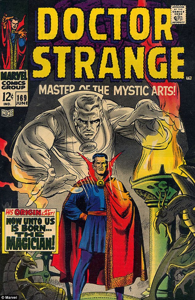 Magician master: Artist Steve Ditko created the comic book series in 1963 about a surgeon turned wizard warrior