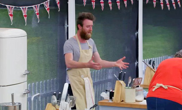 Wednesday night's show descended into chaos when bearded competitor Iain Watters binned his pudding after the ice cream melted in the 25C heat and stormed out of the tent