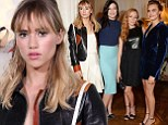 Girls' night out! Suki Waterhouse leaves Bradley Cooper at home as she hits up THREE LFW parties with model pals
