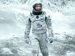 Pictured: Matthew McConaughey is pictured in a barren landscape in an astronaut suit in the new poster for Interstellar