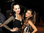 Rivals: The Firework singer is closely followed by relative newcomer Ariana Grande, who has claimed six nods