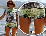 Mind the gap! Beyonce defies the critics by posting shots of herself in hotpants... revealing her naturally slender legs