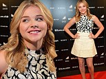 A true Southern Belle: Chloe Moretz stuns in black-and-white dress as she returns to her hometown of Atlanta for screening of The Equalizer