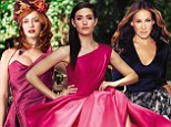 Christina Hendricks, Emmy Rossum and Sarah Jessica Parker glam up in designer gowns for Hollywood Reporter red carpet issue