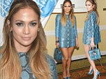 She's making style hiss-tory! Jennifer Lopez wows in head-to-toe snake ensemble at American Idol photo call