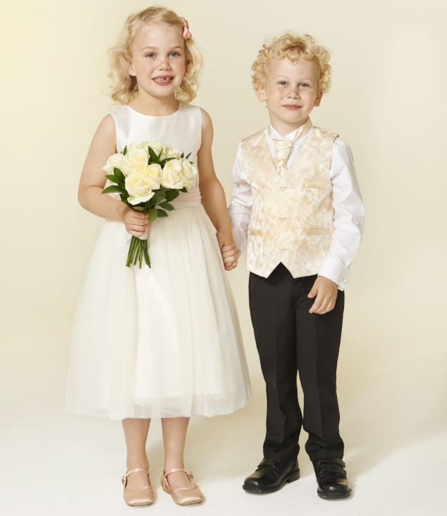 A Flower girl's dress isn't cheap at £72 - but it is very special. And for page boys, the whole outfit - including tiny cufflinks - comes to a fantastically well-priced £32