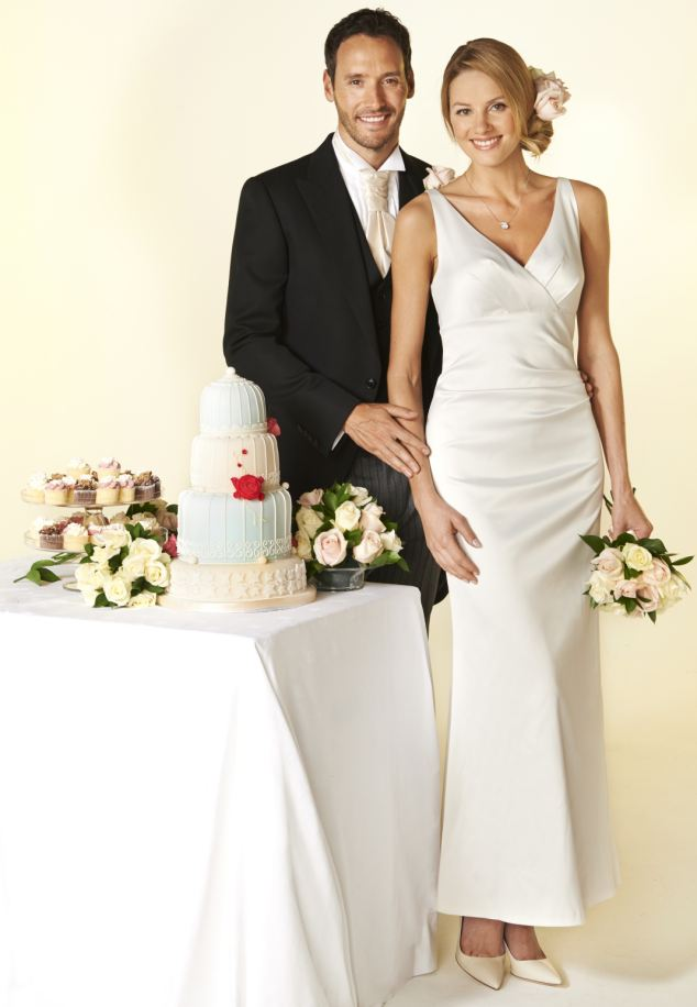 Could M & S cater to all of your wedding needs and save you money? From the £99 bride's dress to the £199 morning suit (both pictured) choosing the high street store could save you thousands. But can they deliver the goods? GEMMA CHAMP finds out