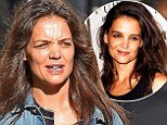 Katie Holmes is almost unrecognizable as she arrives to set of commercial shoot with no makeup on...after stunning at NYC party